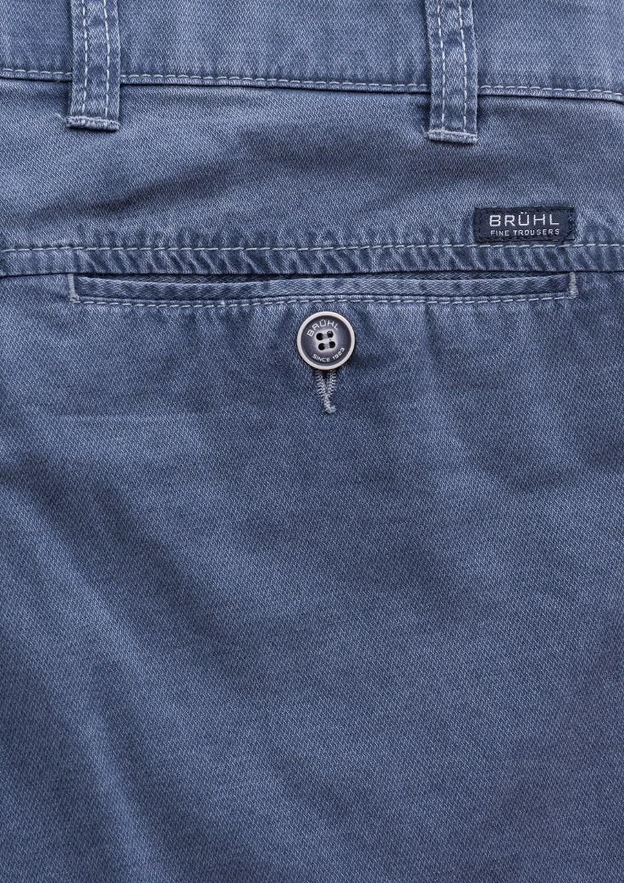 ... Obrázek Brühl pánské chino kalhoty Catania modrošedá   modrá e912ba5830