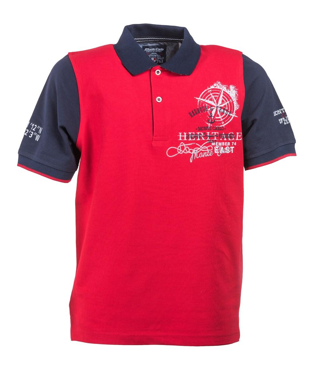 b03b93f8cc5 Obrázek E Polo triko   polokošile červená - růžice Mode Monte Carlo ...