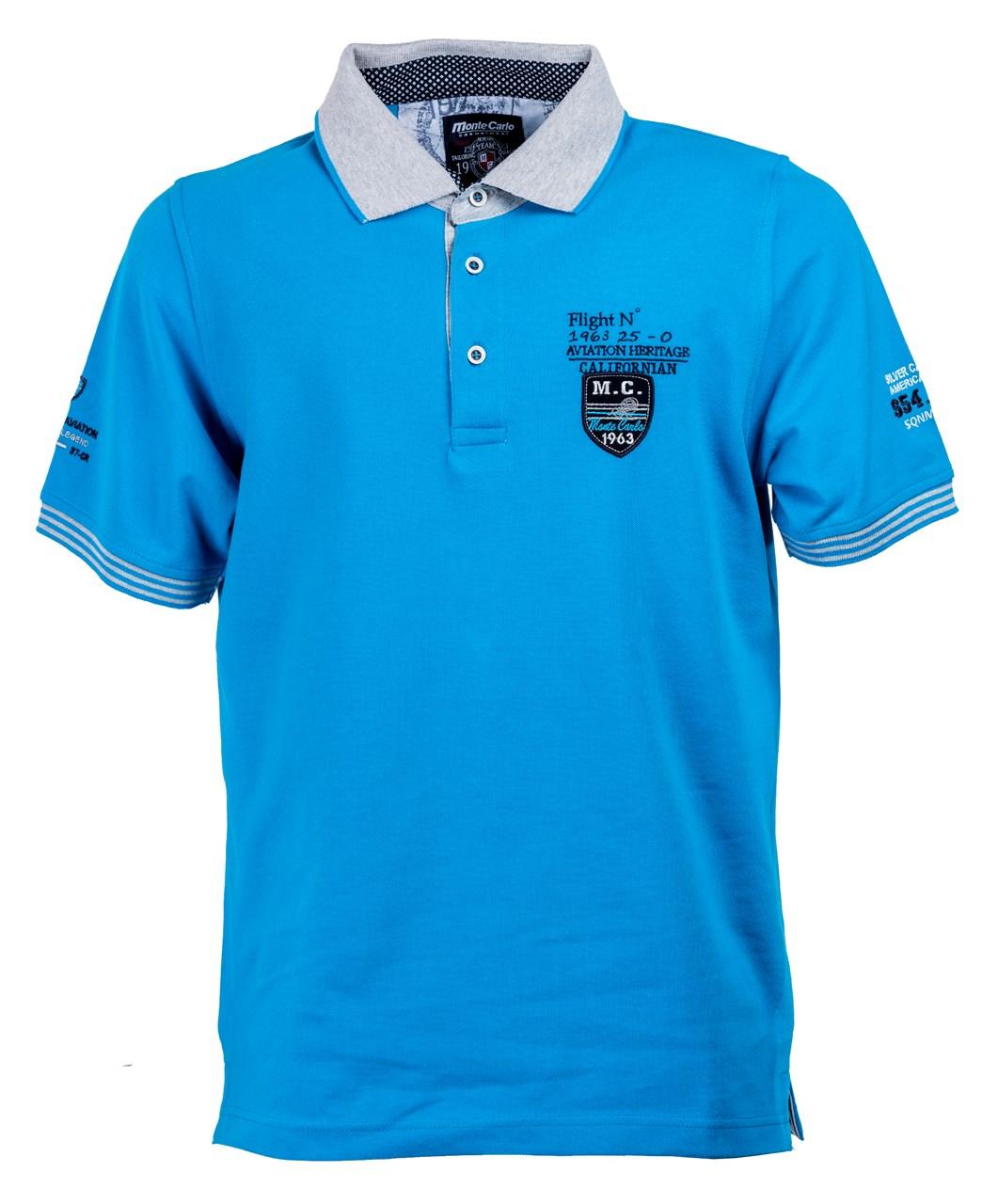 8c5fac3a58c Obrázek E Polo triko   polokošile modrá Mode Monte Carlo ...