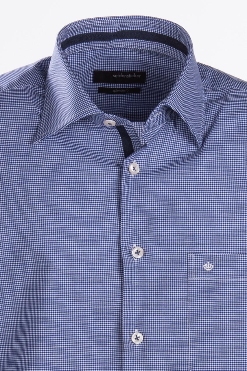 ... Obrázek Modrá pánská košile s jemným vzorem SEIDENSTICKER aedcc30809
