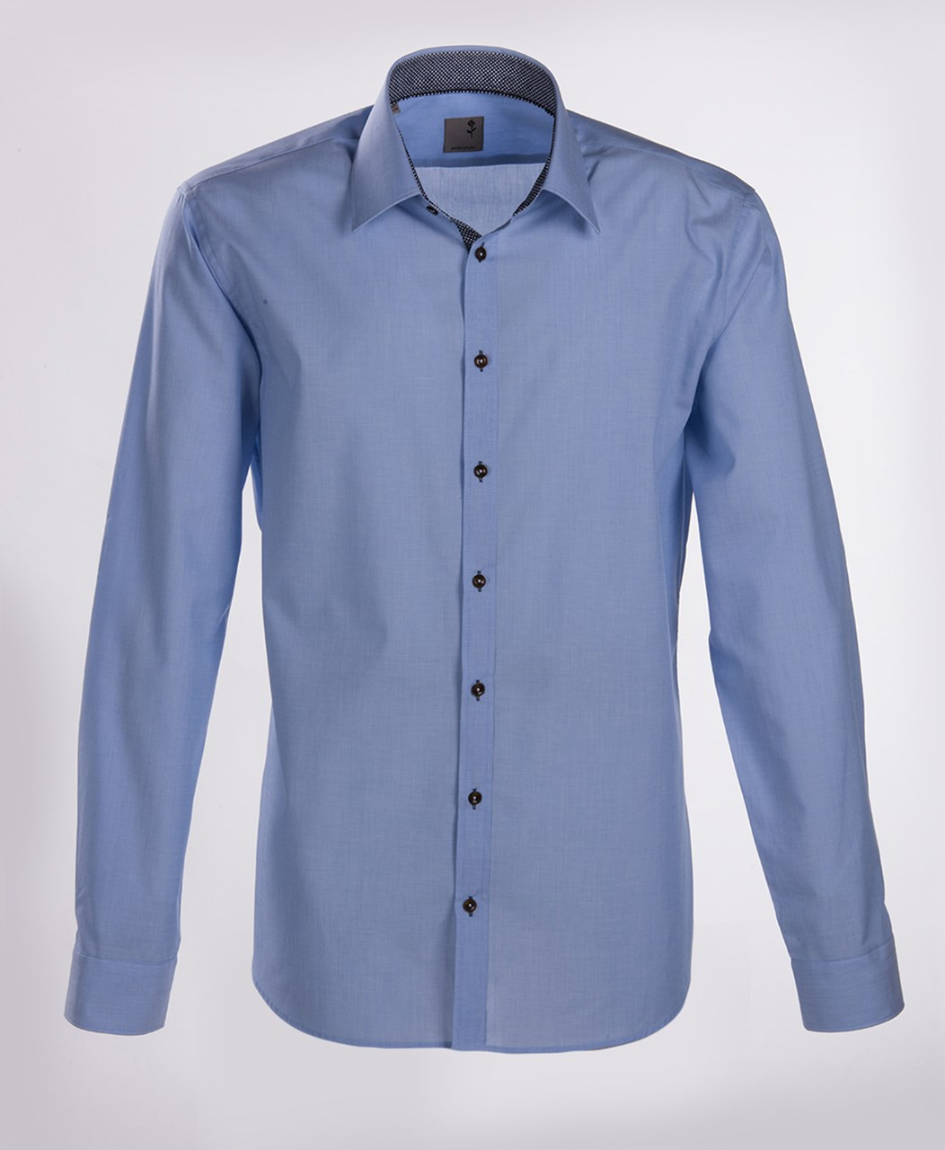 W M EGO. Modrá pánská košile SEIDENSTICKER b3f2b9af7c