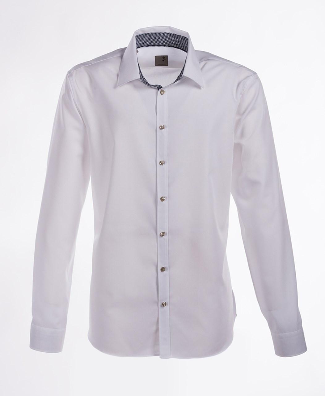 W M EGO. Bílá pánská košile SEIDENSTICKER 2c8754ce8e