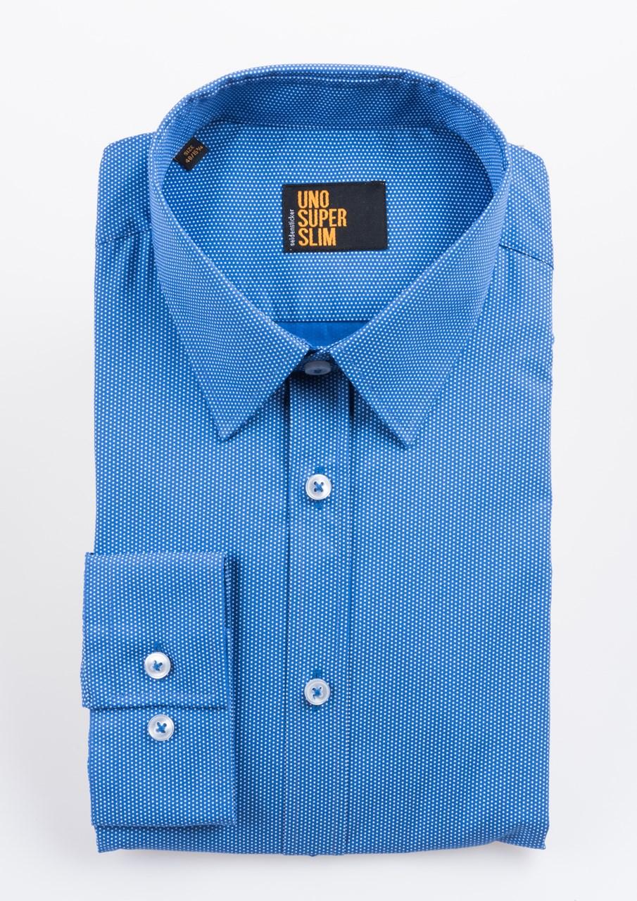 W M EGO. Modrá pánská košile s drobným bílým puntíkem SEIDENSTICKER ... c90ab0c679