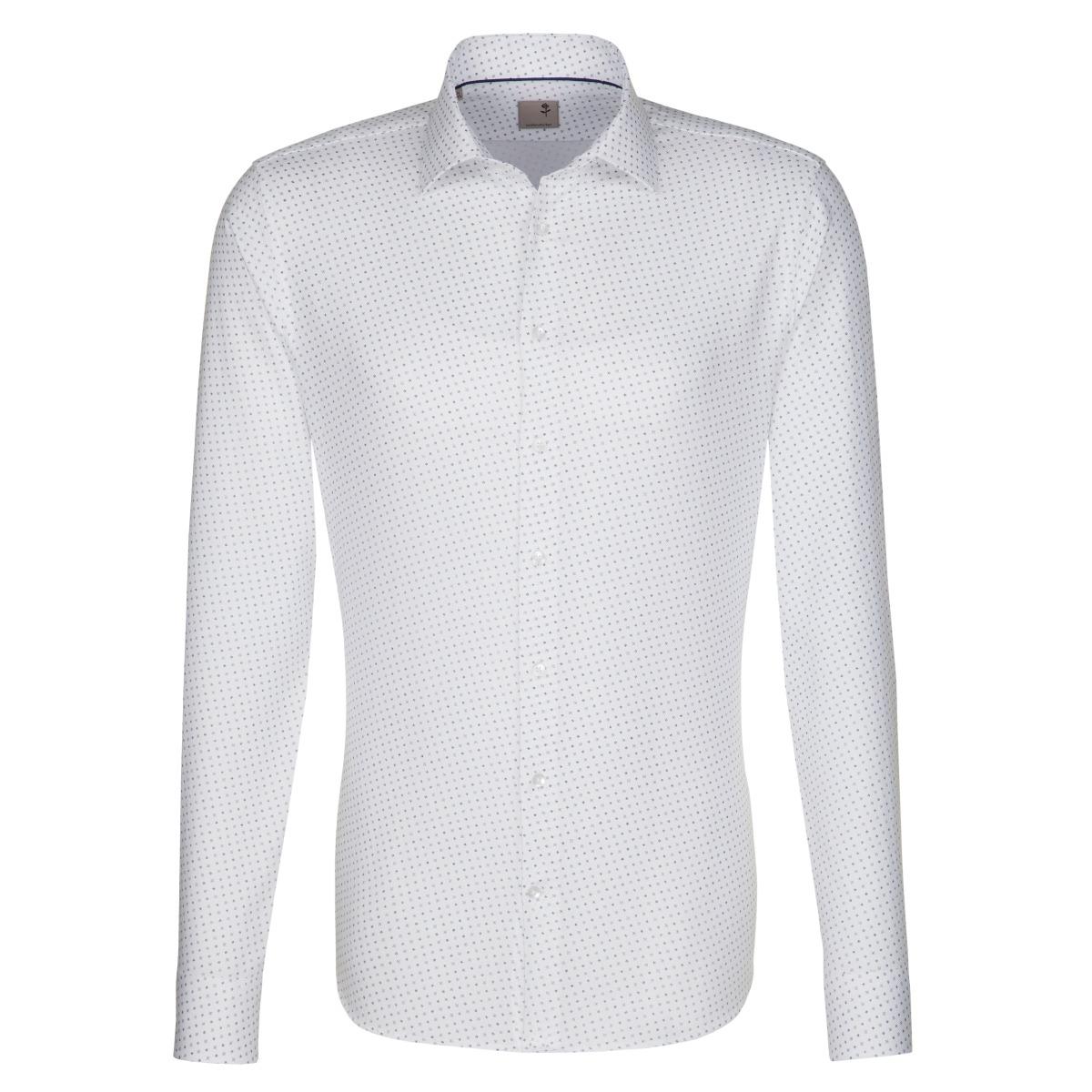 0aec99ef37c W M EGO. Bílá pánská košile SEIDENSTICKER se vzorečkem