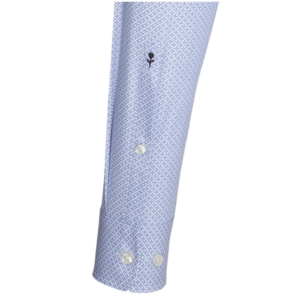 38f4f62a080 ... Obrázek Modrá pánská košile SEIDENSTICKER řady Business se vzorečkem   křížek
