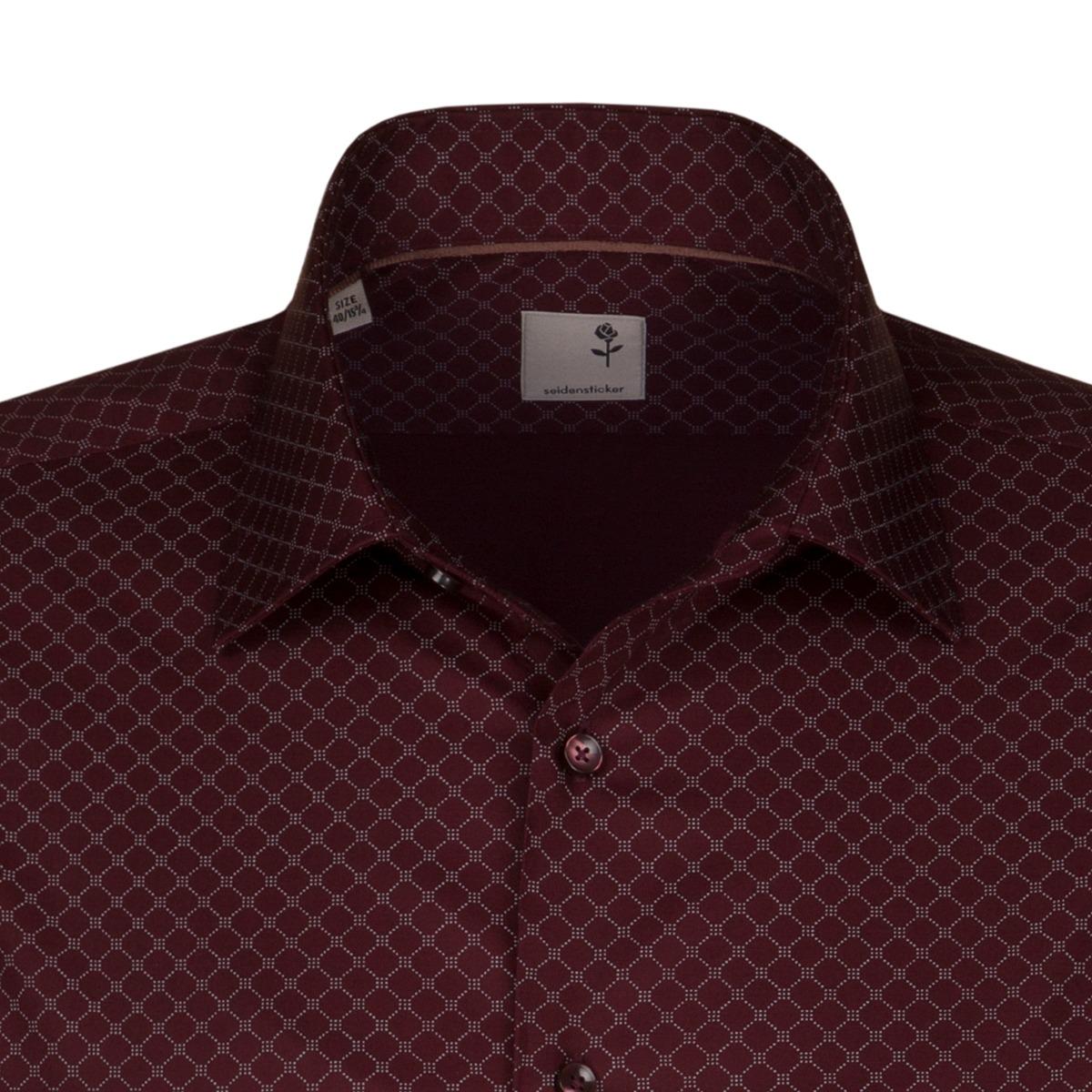 62ce8786461 ... Obrázek Vínová pánská košile SEIDENSTICKER řady Business