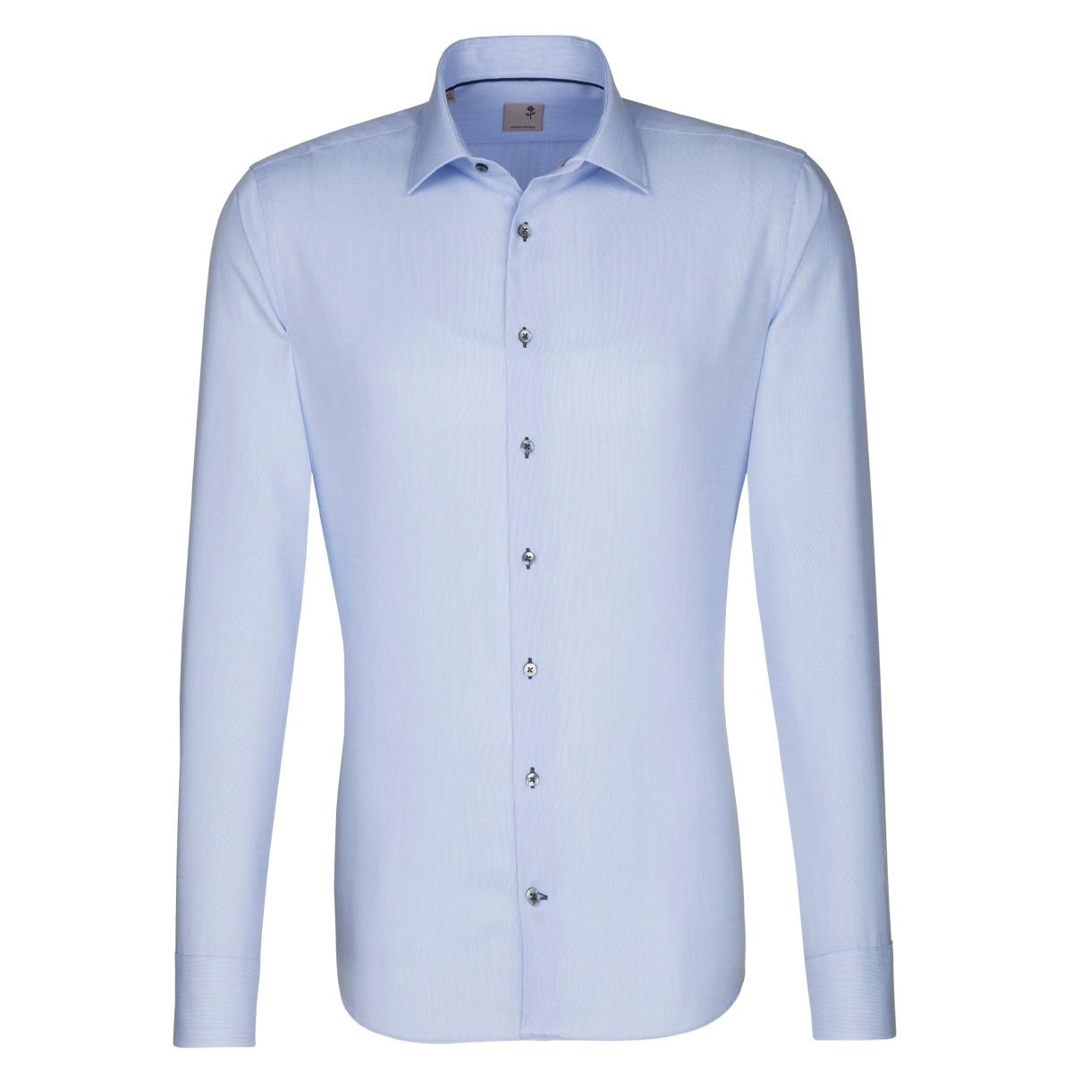 W M EGO. Světle modrá pánská košile SEIDENSTICKER 67d95d63b1