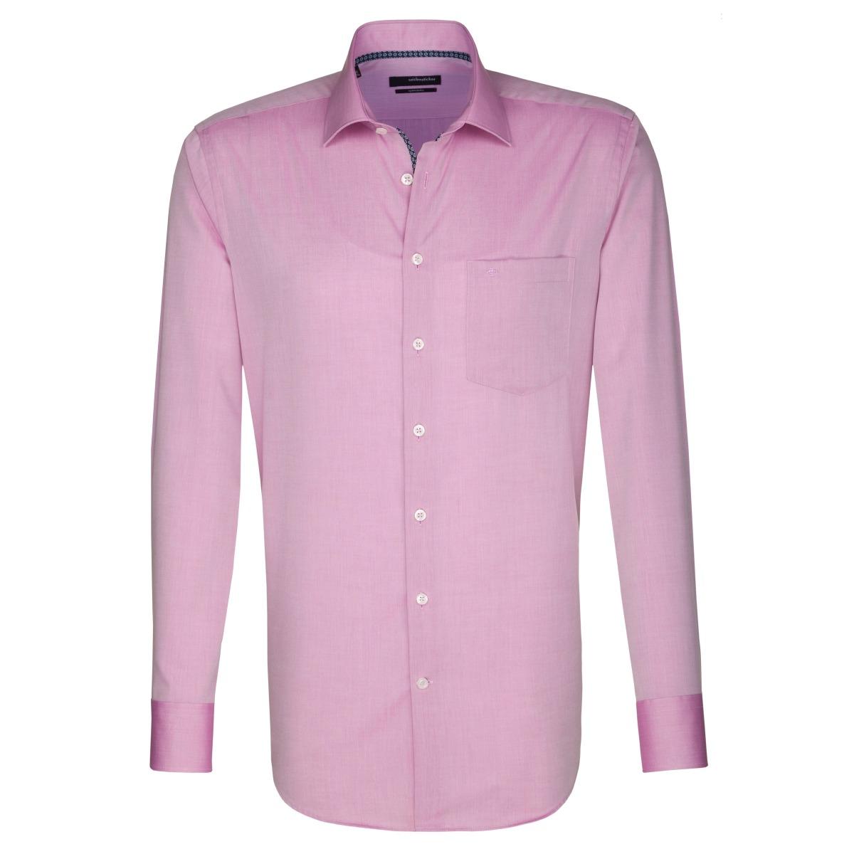 W M EGO. Růžová pánská košile SEIDENSTICKER 90ed91c534