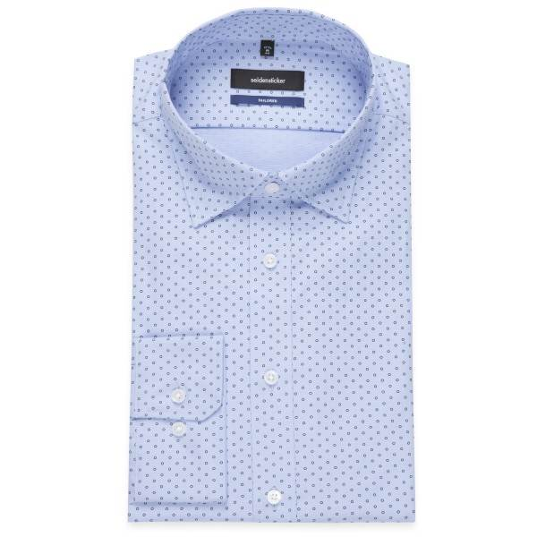 ... Obrázek Seidensticker bavlněná košile bílá tm.modré kolečko 55d4fae980