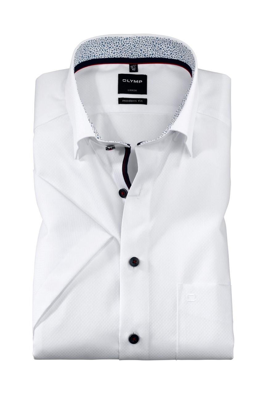 W M EGO. Olymp košile bílá struktura 05dde15553