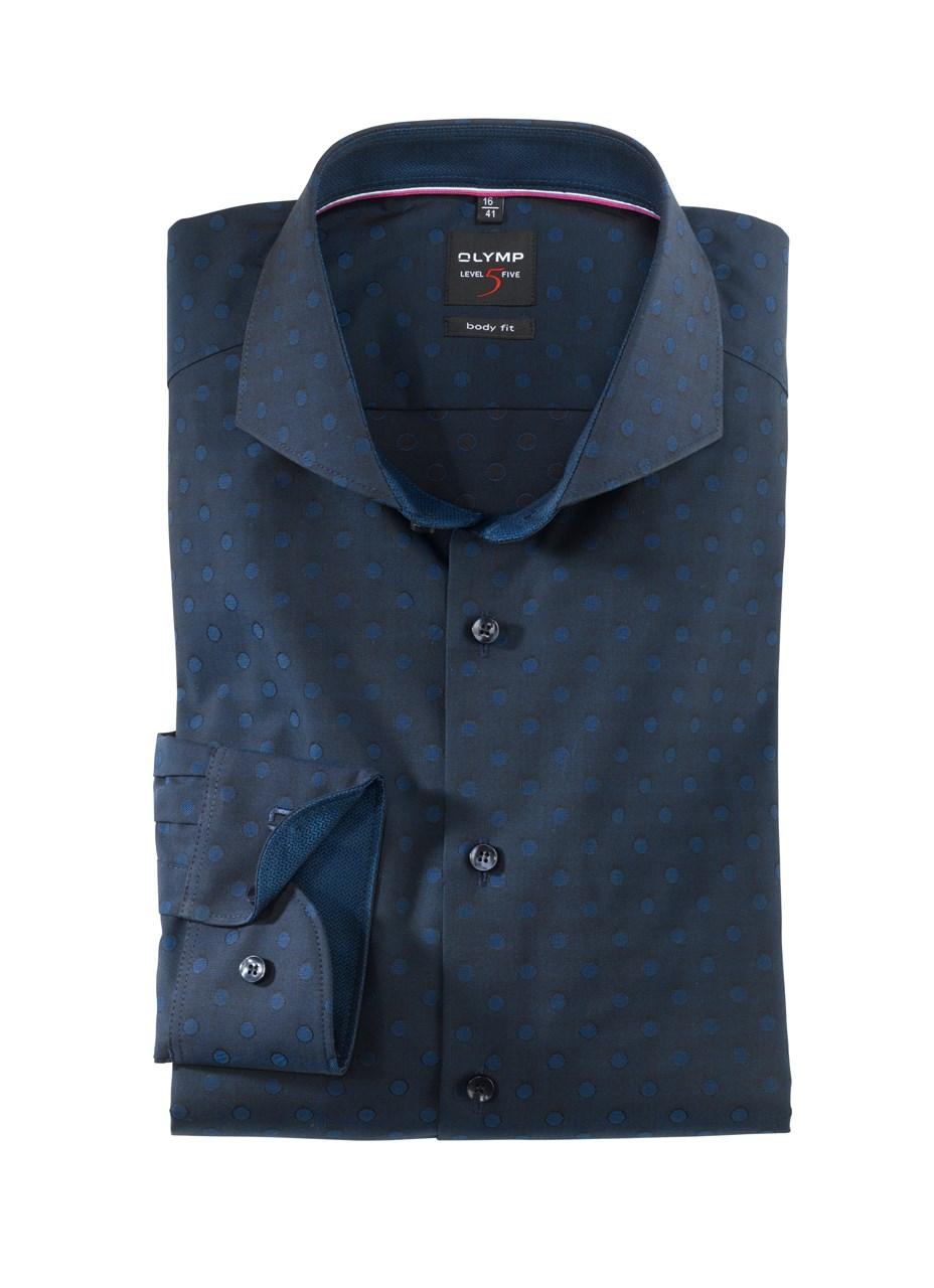 W M EGO. Olymp košile tm. modrá s puntíky f7946079bf