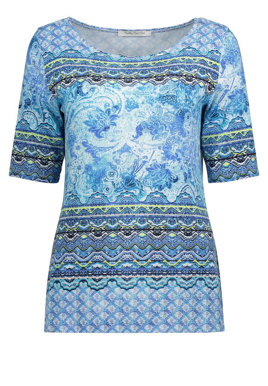 W M EGO. Betty Barclay triko modré se vzory adb80ed53b